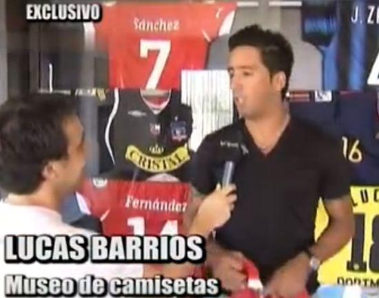 巴里奥斯公开展示球衣收藏