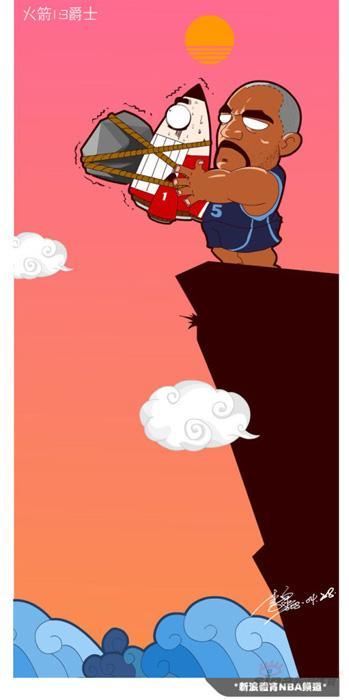 NBA漫画-客场漫画落败命悬一线休斯顿成v漫画火箭管图片
