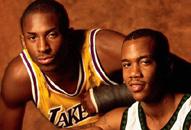 NBA老照片-新秀合影两大年轻后卫飞侠独狼闯世界