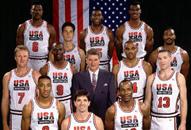 NBA老照片-92年梦之队全家福梦幻阵容被历史尘封