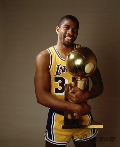 NBA老照片-湖人开启表演时刻魔术师剑指总冠军