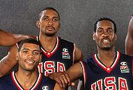 NBA老照片-2000年梦之队全家福他们永远不会被尘封