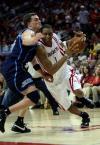 图文-[NBA]爵士69-95火箭麦蒂突破哈普林
