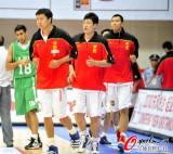 中国队赛前热身