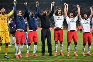 法甲-巴黎2-1客胜提前夺3连冠降级队全部出炉