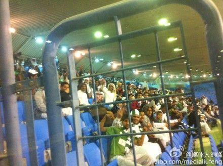 法赫德王子体育场内的沙特球迷