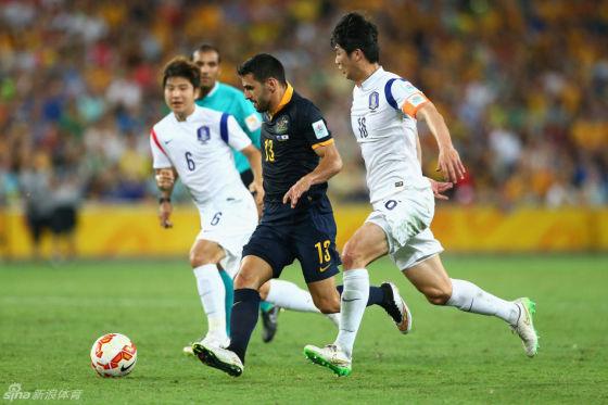 韩国队击败澳大利亚