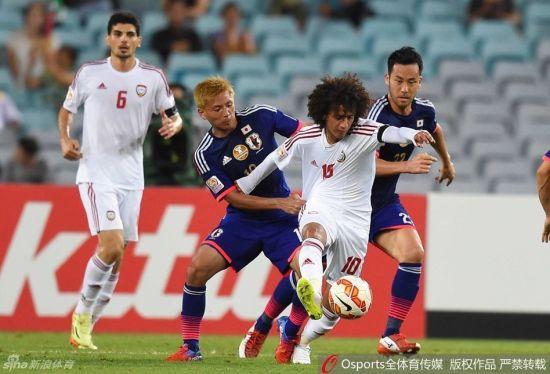 日本队没有在阿联酋队身上占到任何便宜