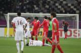 卡塔尔球员受伤倒地