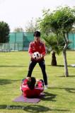 李建滨与队友训练