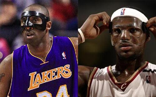 詹姆斯和科比此前都曾经带过面具出战