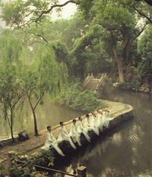 水随山转山因水活 绮园以树木山池为主略点缀建筑
