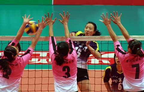 08-09赛季全国女排联赛A组第14轮:四川1比3负天津