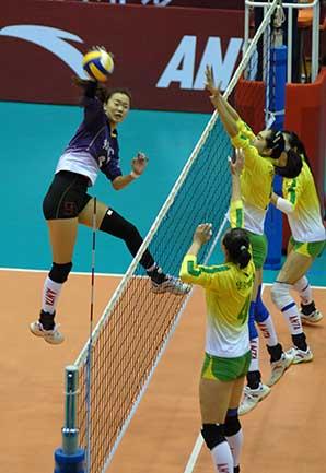 08-09赛季全国女排联赛A组第16轮:江苏3比1胜八一