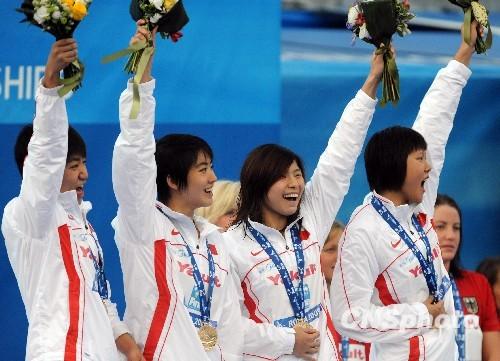 青春组合扬威罗马游泳世锦赛时隔六年中国再夺金