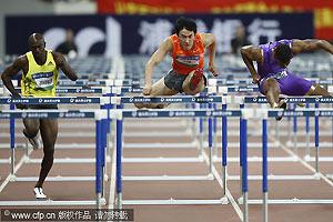 上海大奖赛刘翔完美复出跑13秒15同成绩屈居亚军