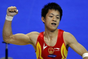 体操世锦赛中国终获首金鞍马张宏涛力挫群雄夺冠