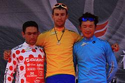 环湖赛第1赛段中国姜坤第3亚洲最佳31岁老将夺黄衫