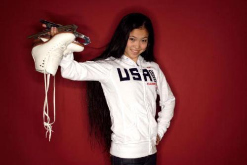 美籍华裔小美女换教练