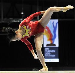 体操世锦赛女团中国强项失误仅获第三俄罗斯夺冠