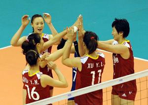 女排大奖赛中国3-0哈萨克斯坦收获漯河站开门红