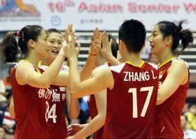 女排亚锦赛中国3-0完胜中华台北1/4决赛战越南