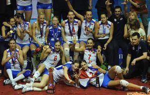 女排欧锦赛塞尔维亚首折桂俄罗斯无缘2012大奖赛