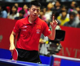 世乒赛-张继科救赛点3-2险胜中国3-0奥地利进4强