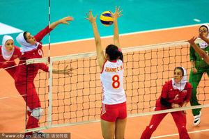 女排亚洲杯中国3-0伊朗夺两连胜第三局25-22险胜