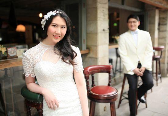 卢兰和老公婚纱照
