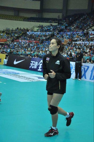 泰国女排队长维拉万 (小太阳摄)