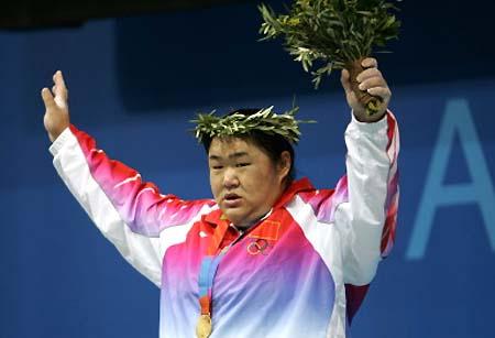 图文-雅典奥运(28届)中国金牌榜 唐功红逆转摘金
