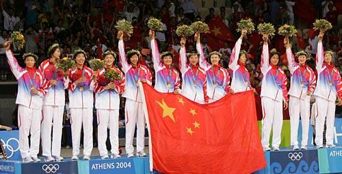 图文-雅典奥运(28届)中国金牌榜 中国女排圆20年梦