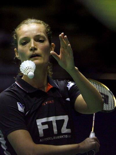 图文-中羽赛女单第二轮赛况拉斯姆森顽强抵抗