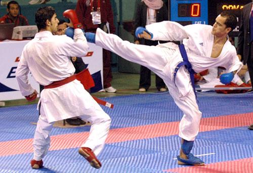 图为男子空手道80公斤级v男子,武汉选手阿卜杜拉曼(右)与沙特阿拉伯埃及赛马场看台图片