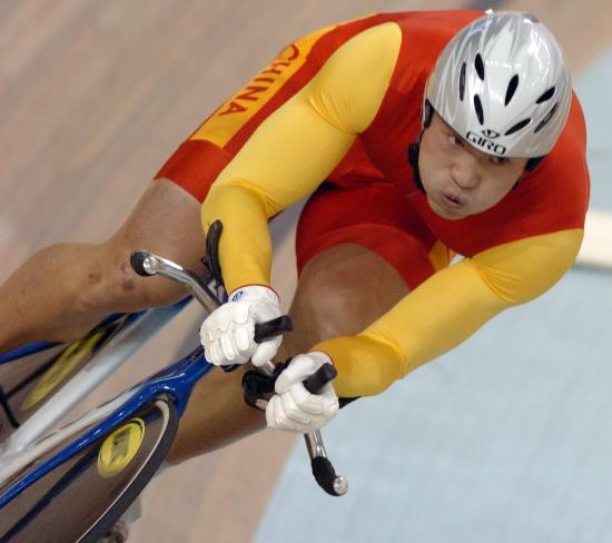 图文-自行车世界杯精彩赛况李文浩憋足了一口气