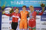 图文-自行车世界杯赛卡尼斯获女子凯林赛冠军