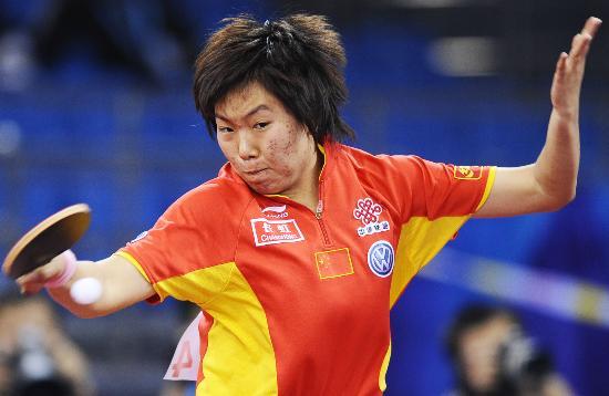 图文-国际乒联总决赛女单决赛这冠军我是要定了