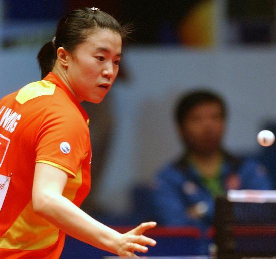 图文-乒乓球世界总冠军赛王楠晋级王楠进攻犀利