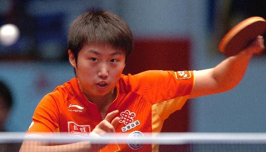图文-乒乓球世界总冠军赛郭跃晋级郭跃兵不血刃