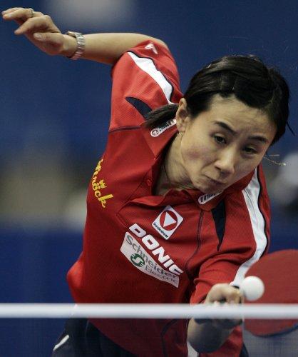 图文-世乒赛女团德国队3-0奥地利队 刘佳遗憾告负