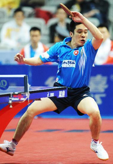 图文-世乒赛中国香港队晋级半决赛高礼泽奋力拼杀