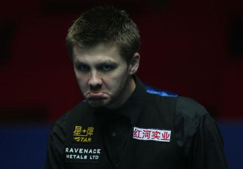 图文-斯诺克中国赛马奎尔单杆147瑞恩-戴奇怪表情