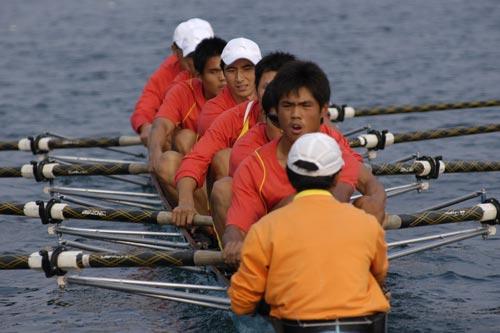 图文-奥运舵手全国四强最终产生各就各位准备开始