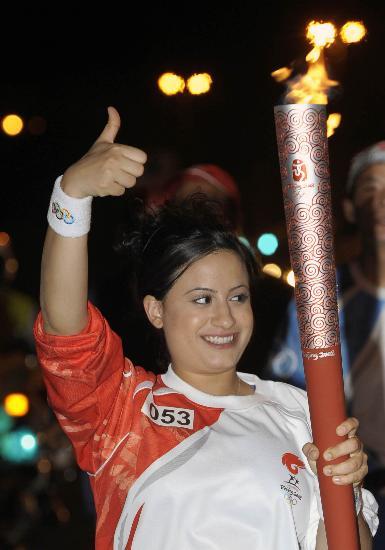 图文-圣火传递活动在马斯喀特举行 08中国最棒!