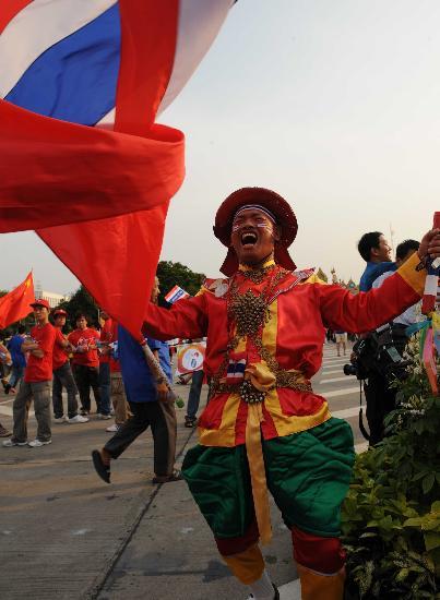 图文-北京奥运圣火在曼谷传递 这是我们的节日