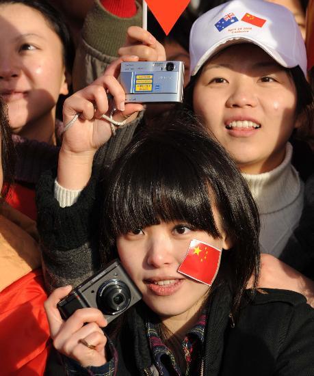 图文-北京奥运圣火在堪培拉传递 相机记录精彩瞬间