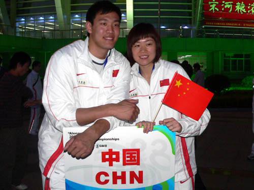 图文-亚洲跆拳道锦标赛开幕罗薇和多哈冠军刘哮波