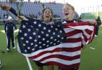 图文-美国女曲3-1比利时获奥运资格无比开心