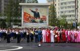 图文-北京奥运会火炬在平壤传递 城市中的一景
